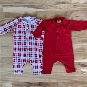 long sleeve one piece jumpsuit for baby, set of 2